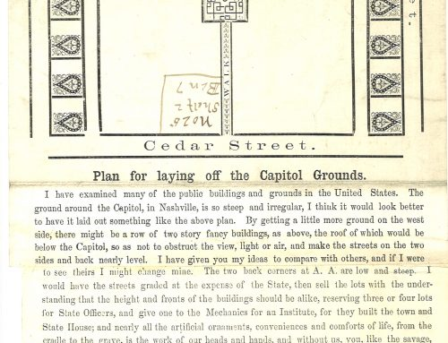 Tennessee State Capitol Ground Plan 1859