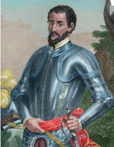 Hernando de Soto in armor Tennessee Expedition