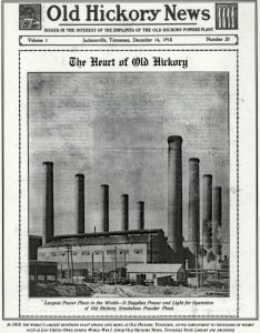 Old Hickory Munitions Plant, December 1918
